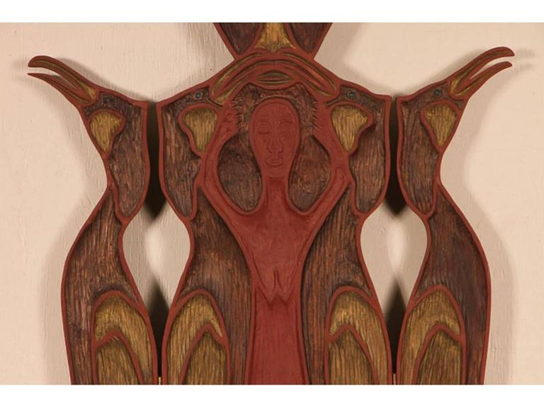 John Hoover Quot Volcano Woman I Quot Triptych 1990 For Sale At