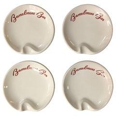 Set of Four Bemelman's Bar Ashtrays