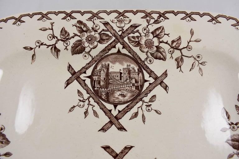 English 19th Century Staffordshire Aesthetic Movement Transferware Platter, 'Alaska' For Sale