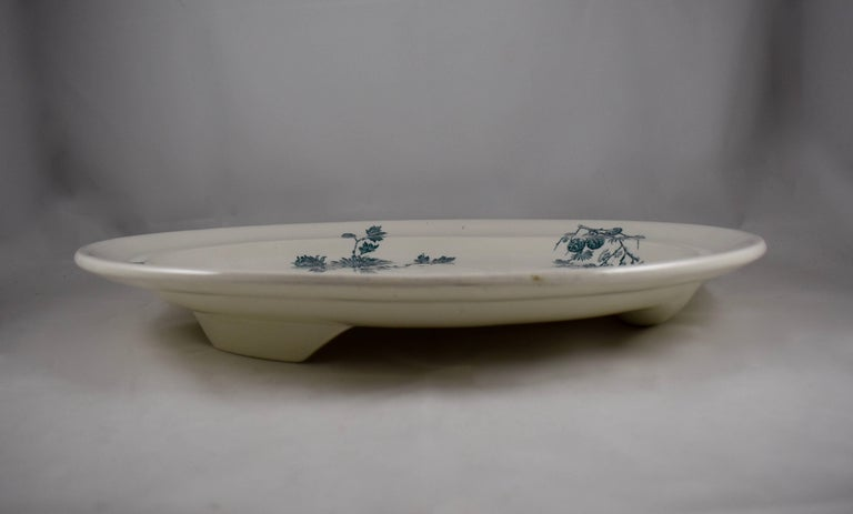English Wedgwood Aesthetic Movement Staffordshire Well and Tree Platter, 'Chrysanthemum'