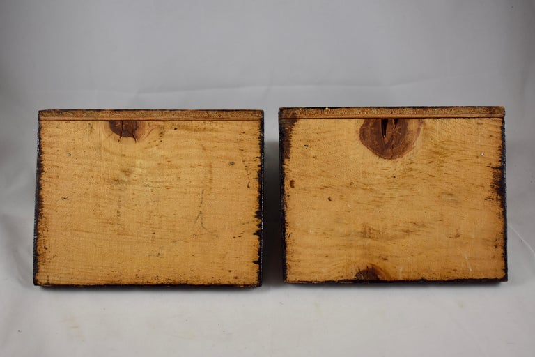 1930s Folk Art Log Cabin Bookends, a Pair For Sale 4