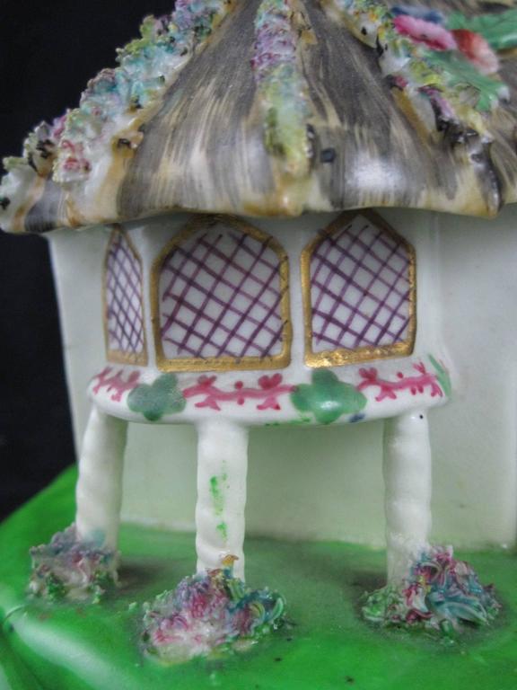 19th Century Staffordshire Cottage Form Pastille Burner At