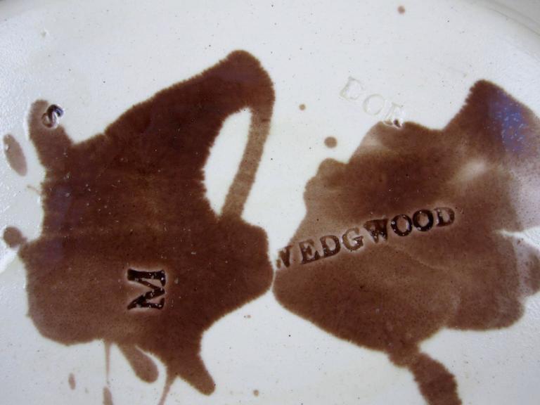 19th Century Wedgwood English Majolica Fern on Palm Leaf Shaped Trays 5
