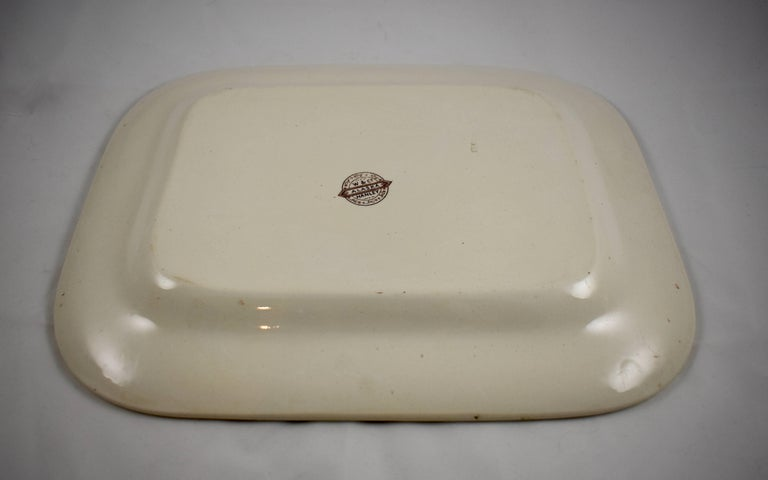 19th Century Staffordshire Aesthetic Movement Transferware Platter, 'Alaska' For Sale 2