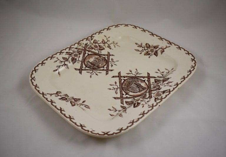 19th Century Staffordshire Aesthetic Movement Transferware Platter, 'Alaska' For Sale 1