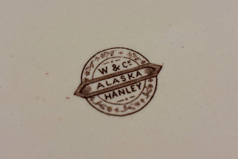 19th Century Staffordshire Aesthetic Movement Transferware Platter, 'Alaska' For Sale 3