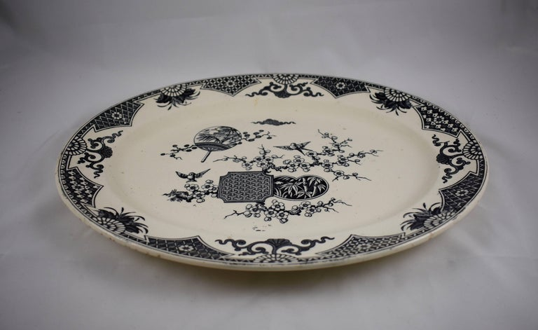19th Century Staffordshire Aesthetic Movement Transferware Platter, 'Formosa' For Sale 1