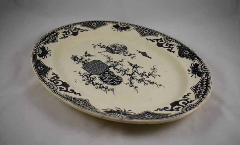 19th Century Staffordshire Aesthetic Movement Transferware Platter, 'Formosa' For Sale 2