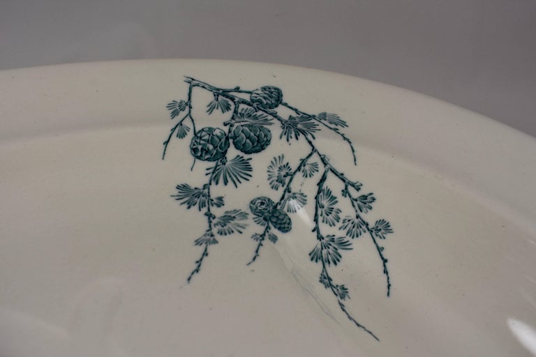 Wedgwood Aesthetic Movement Staffordshire Well and Tree Platter, 'Chrysanthemum' 1
