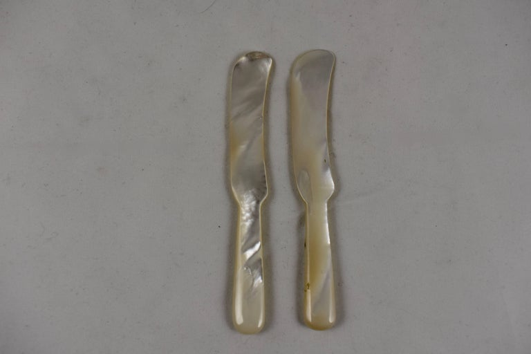 Unknown 1920s Handcrafted Mother-of-Pearl Caviar Spreader For Sale