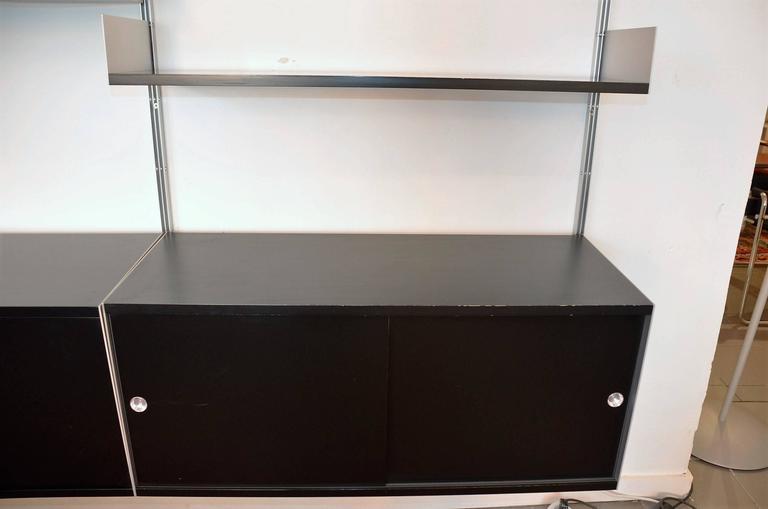 shelves of system model 606 black dieter rams for vits and zapf