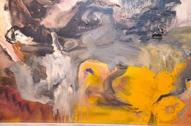 Oil on Canvas by André Tourtet, France, 1965 In Excellent Condition For Sale In Grenoble, FR