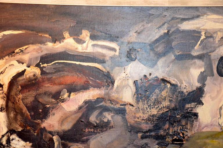 Oil on Canvas by André Tourtet, France, 1965 For Sale 3