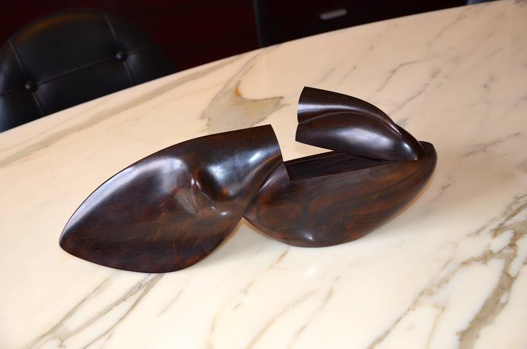 20th Century Rosewood Box Sculpture by Jean-Christophe Couradin, France For Sale