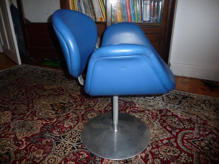 Artifort Tulip Leather Armchair by Pierre Paulin, 1965 For Sale 2