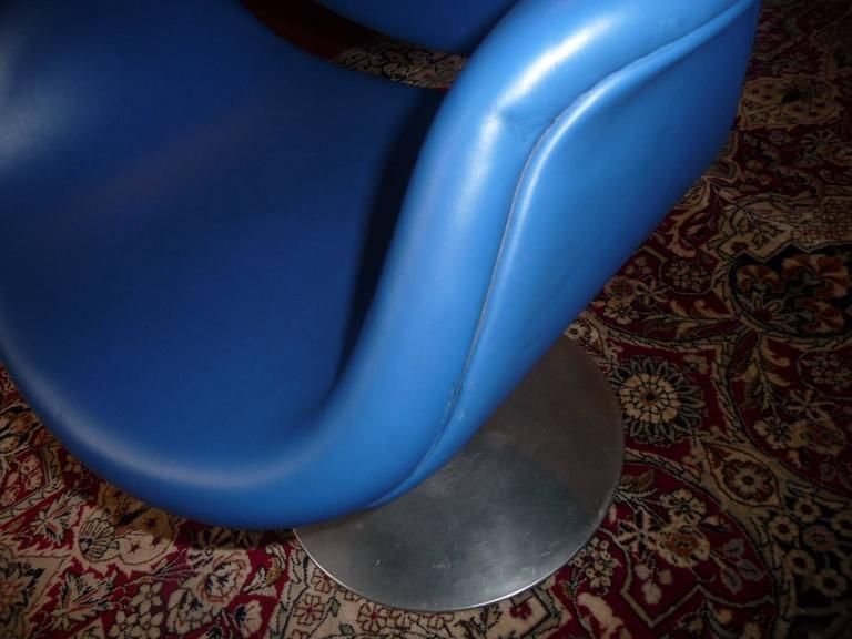 Artifort Tulip Leather Armchair by Pierre Paulin, 1965 For Sale 3