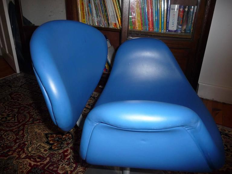 Artifort Tulip Leather Armchair by Pierre Paulin, 1965 For Sale 1