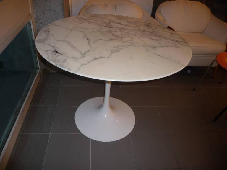 dining table eero saarinen tulip top arabescato marble 2