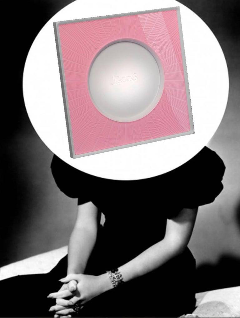 Italian Modern Design  Plexiglass Picture Frame, Sharing Pink For Sale 1