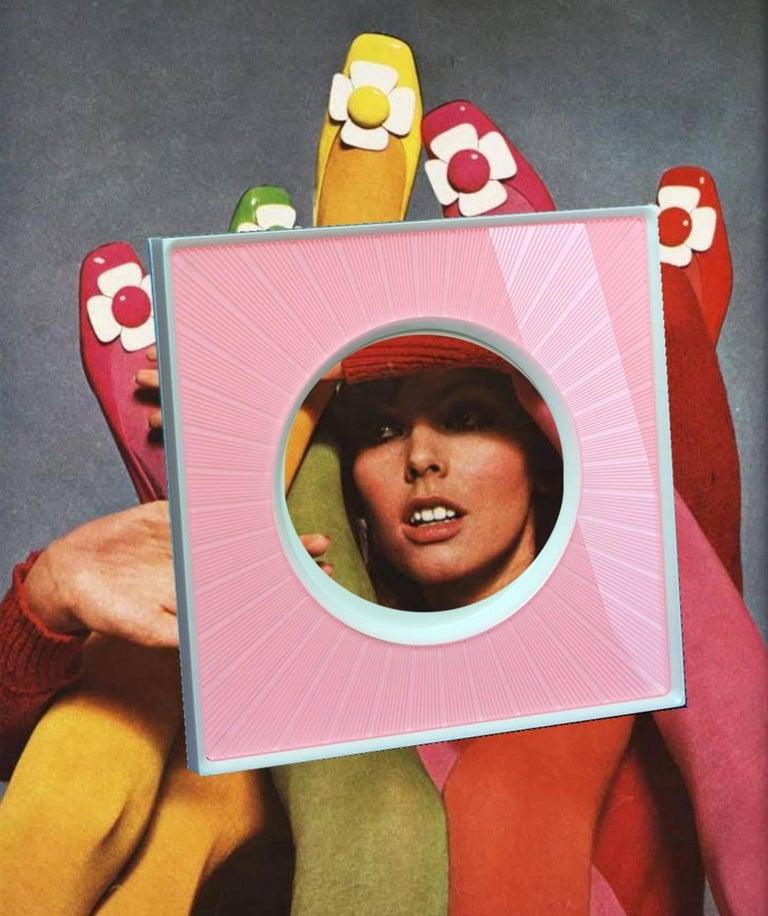 Italian Modern Design  Plexiglass Picture Frame, Sharing Pink For Sale 2