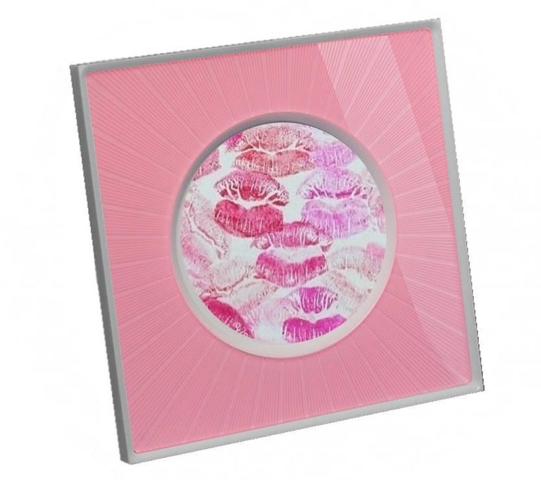 Italian Modern Design  Plexiglass Picture Frame, Sharing Pink For Sale 3