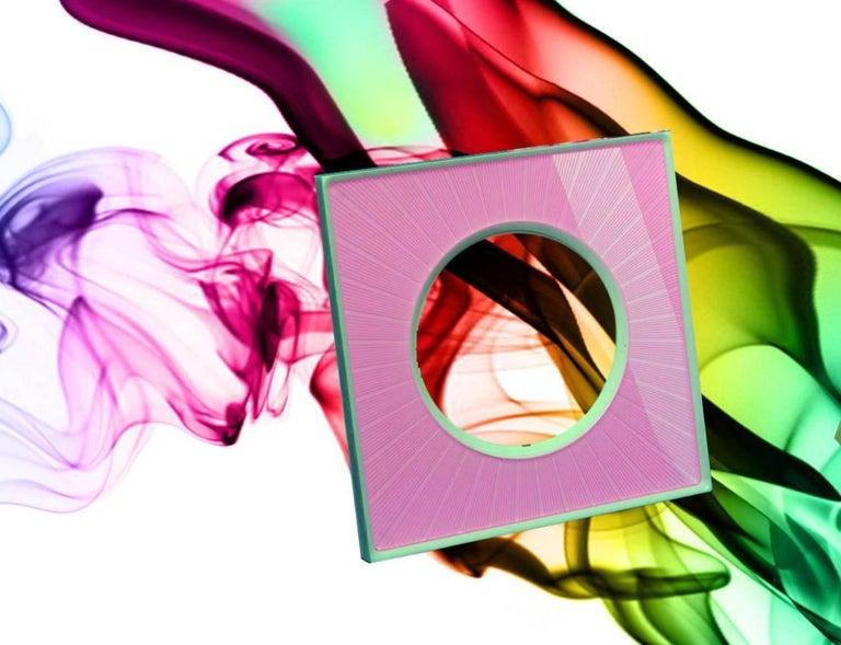 Italian Modern Design  Plexiglass Picture Frame, Sharing Pink For Sale 4