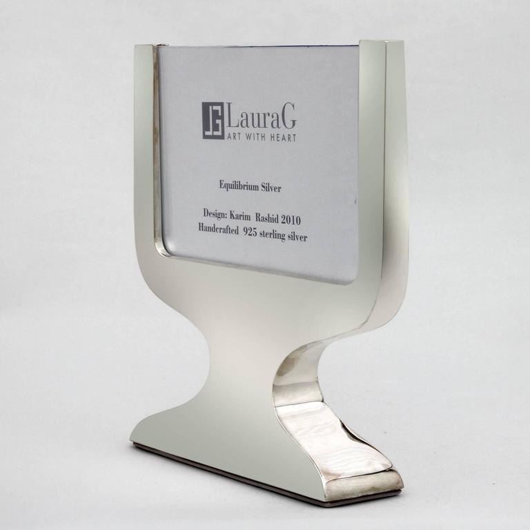 Karim Rashid Contemporary Italian Picture Frame, Equilibrium Silver For Sale 1