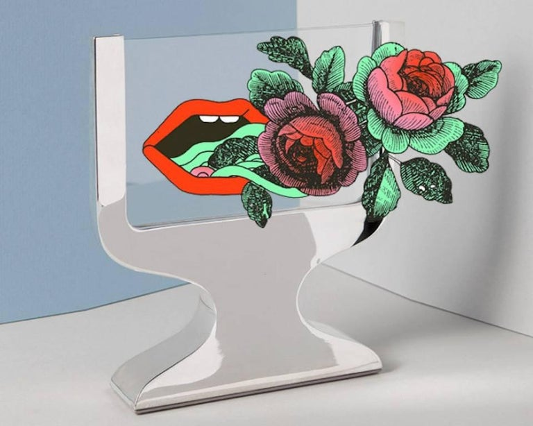 Karim Rashid Contemporary Italian Picture Frame, Equilibrium Silver For Sale 5