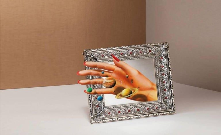 Harmony coral is a unique edition picture frame designed and realized by atelier Laura G for Art with Heart collection. It is a wonderful lost wax silver model hand chiselled by master craftsmen with a petit fleur design, typical of 16th century