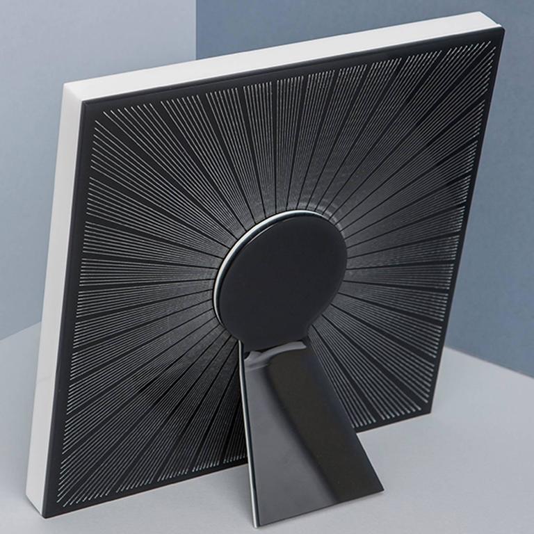 Post-Modern Italian Modern Design Picture Frame in Black Plexiglass, Sharing Black    For Sale