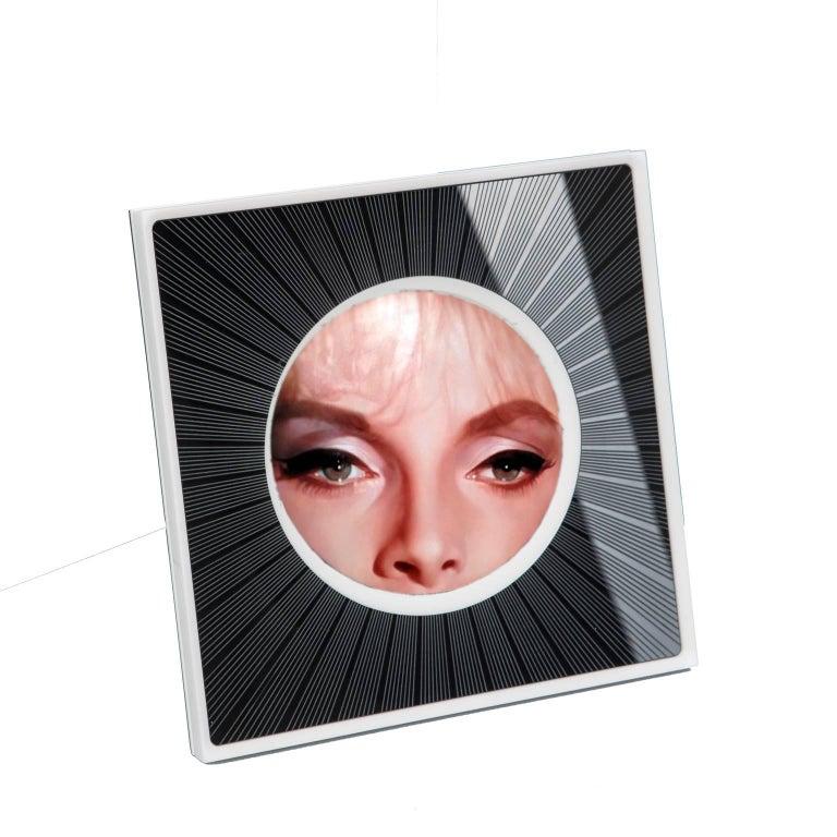 Italian Modern Design Picture Frame in Black Plexiglass, Sharing Black    For Sale 3