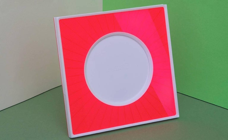 Italian Modern Pop Design Red and White Plexiglass Picture Frame, Sharing Red For Sale 4