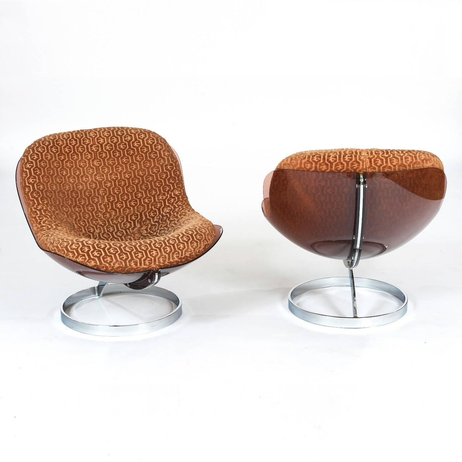 Boris Tabacoff Sphere Lounge Chairs For Sale at 1stdibs
