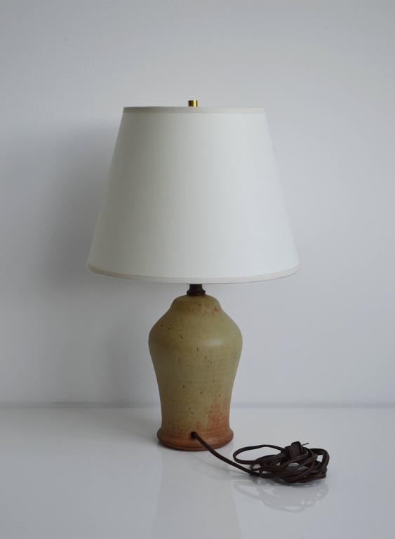 Mid-Century Modern Vintage Studio Pottery Lamp For Sale