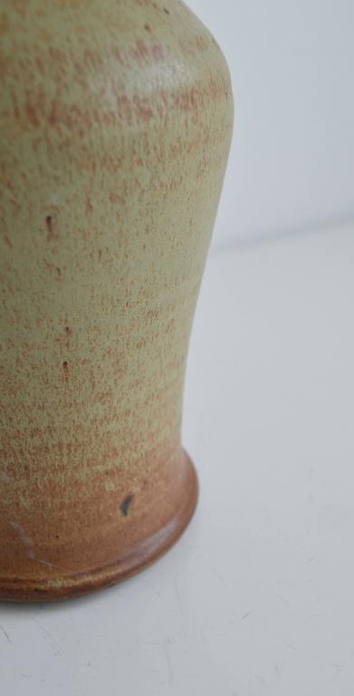 Glazed Vintage Studio Pottery Lamp For Sale