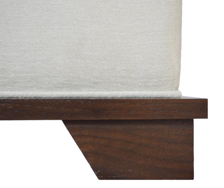 American NBS Custom Upholstered Ottoman For Sale