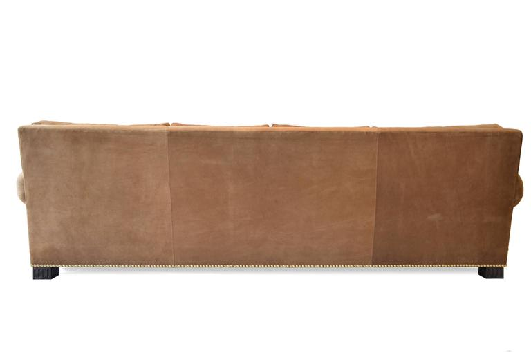 Suede Rolled Arm Sofa by Ralph Lauren 1