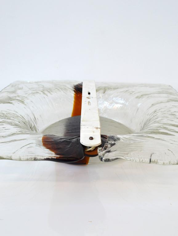Metal Murano Glass Sconce by Toni Zuccheri For Sale