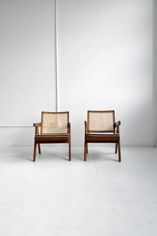 Pair of Pierre Jeanneret Armchairs 3