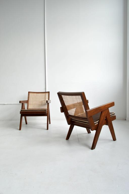 Indian Pair of Pierre Jeanneret Armchairs For Sale