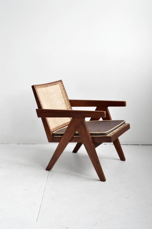 Pair of Pierre Jeanneret Armchairs In Good Condition For Sale In New York, NY