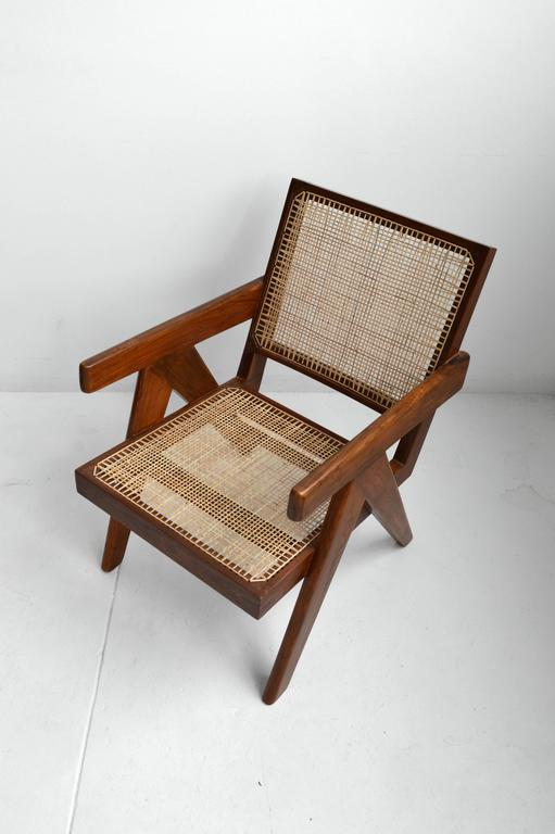 Pair of Pierre Jeanneret Armchairs 8