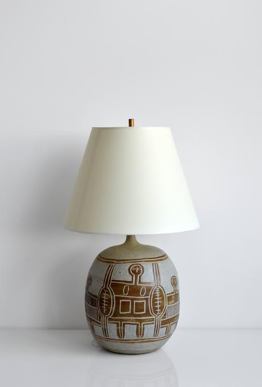 French Vintage Ceramic Table Lamp, 20th Century, France For Sale