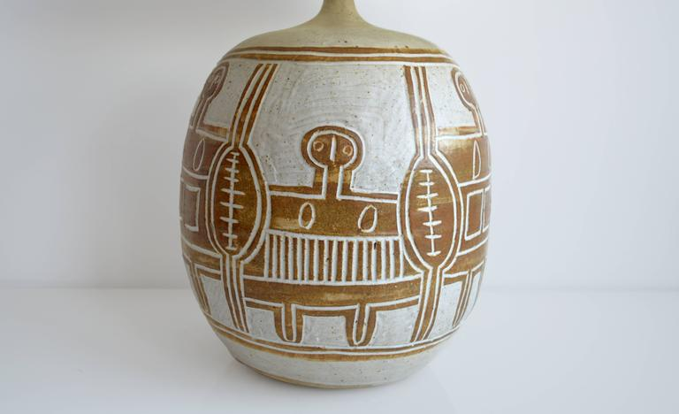 Vintage Ceramic Table Lamp, 20th Century, France For Sale 1