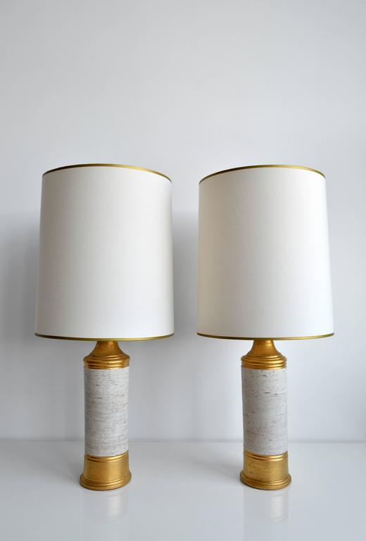 Scandinavian Modern Vintage Pair of Bitossi for Bergboms Table Lamps, 1960's, Swedish For Sale