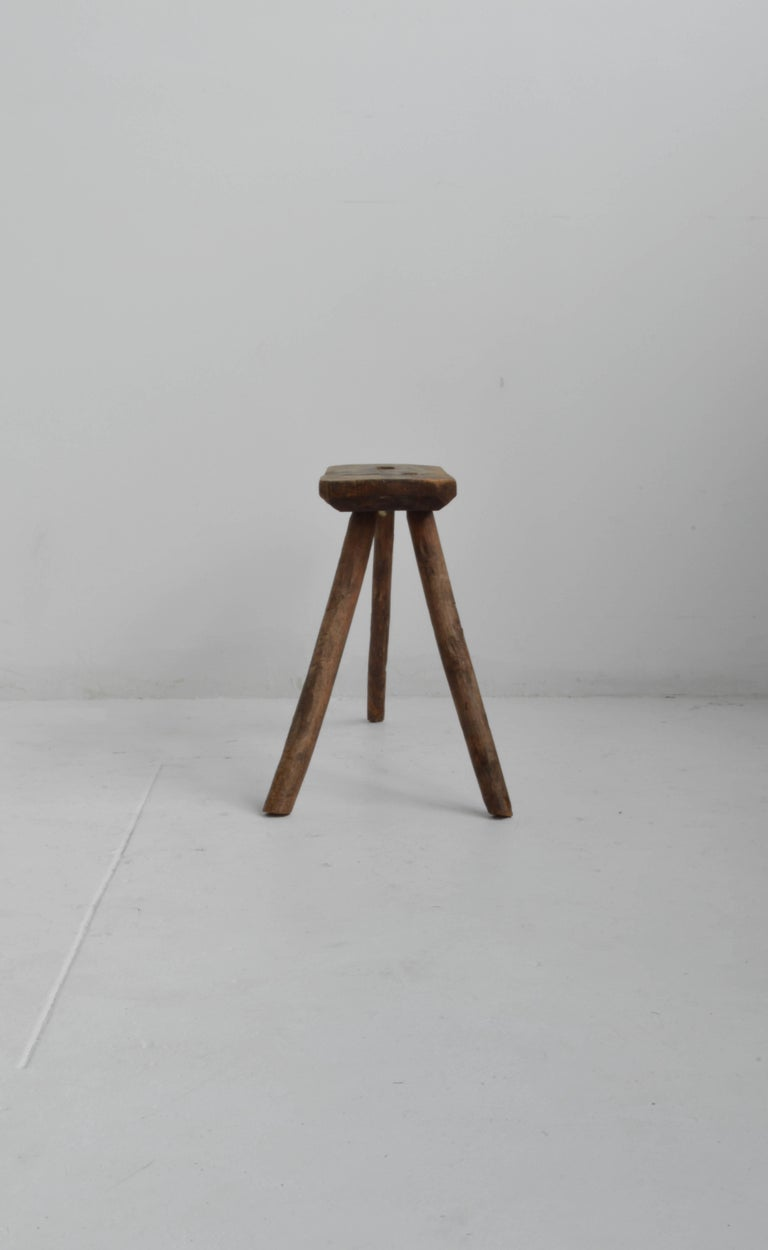 Superb Vintage Wooden Milking Stool 18Th Century At 1Stdibs Gamerscity Chair Design For Home Gamerscityorg