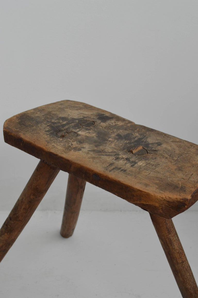 Pleasing Vintage Wooden Milking Stool 18Th Century At 1Stdibs Gamerscity Chair Design For Home Gamerscityorg