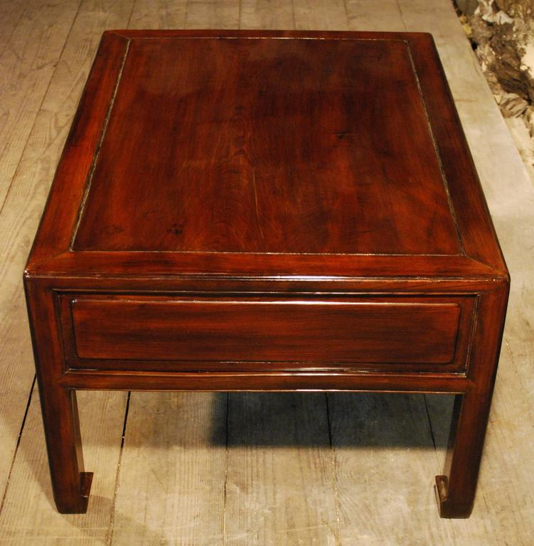 Indore Coffee Table With 6 Drawers: Chinese Lacquered Six-Drawer Kang Table For Sale At 1stdibs
