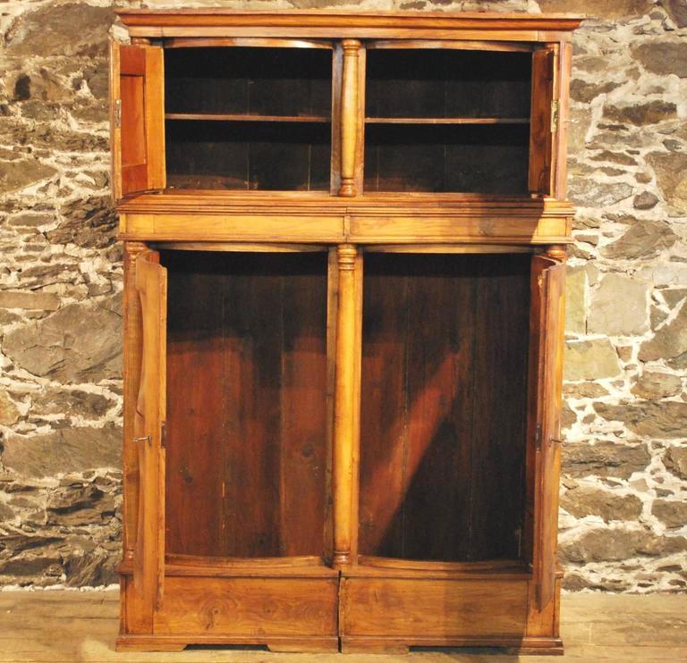 Elmwood Kitchen Cabinet Door Styles: Antique Elmwood Four Door 'Hat' Cabinet, Circa 1840 For