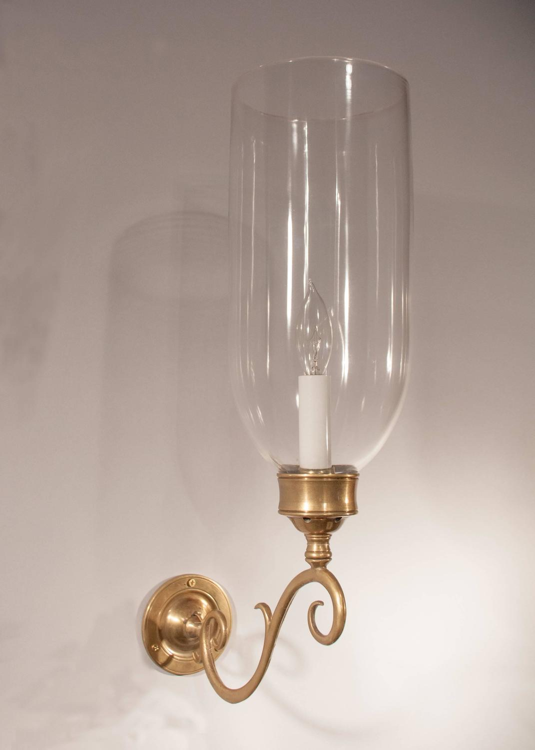Hurricane Wall Light : Pair of 19th Century English Hurricane Wall Sconces at 1stdibs